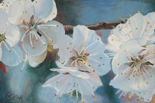 Apricot Blossoms I Original Painting.