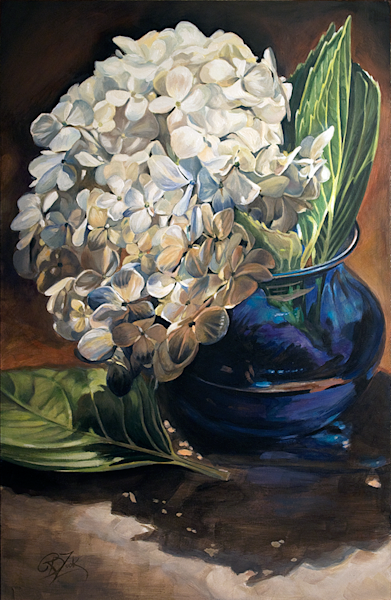Blue Hydrangeas Original Painting