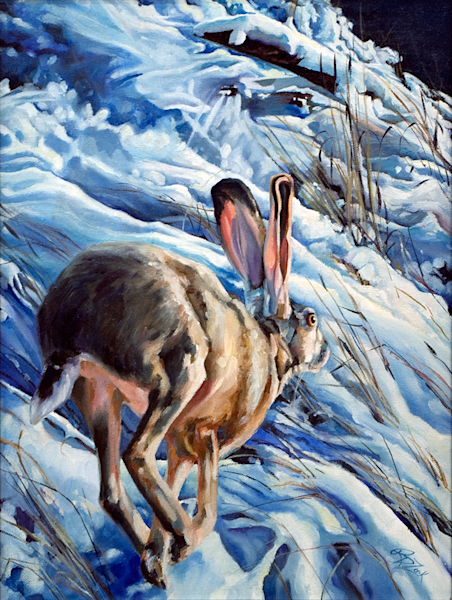 Jack in January Snow Original Painting