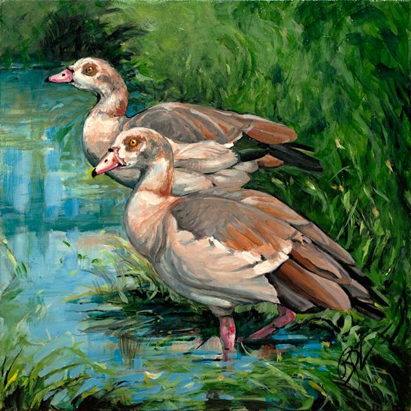 Sacred Geese Original Painting