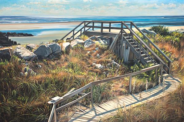 Boardwalk Original Painting