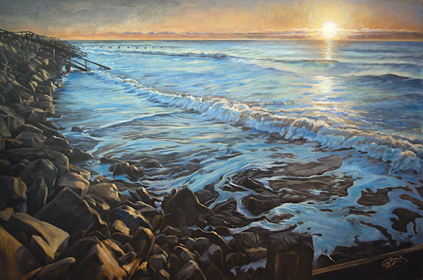 High Tide Morning Original Painting