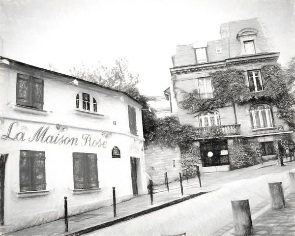 Best Seller La Maison Rose with Green Shutters, Montmartre, Paris
