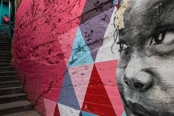 Medellin graffiti eyes