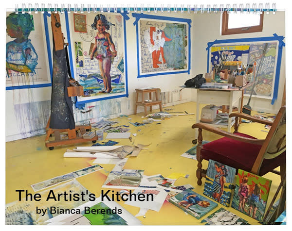 Calendar 2019 with beach paintings and studio photos of Bianca Berends