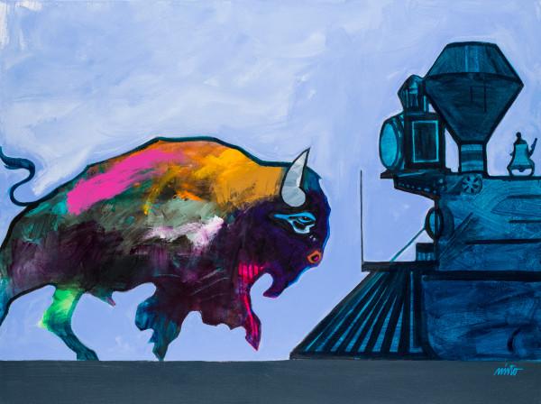 A New Kind Of Tracks On The Horizon | John Nieto Art Reproduction