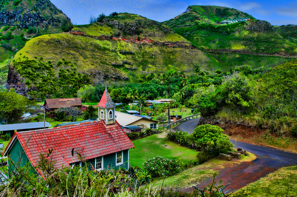 Road to Hana Tropical Mountain Landscape