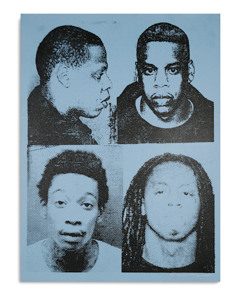 Mugshot Jay Z Wiz Lil Wayne Light Blue