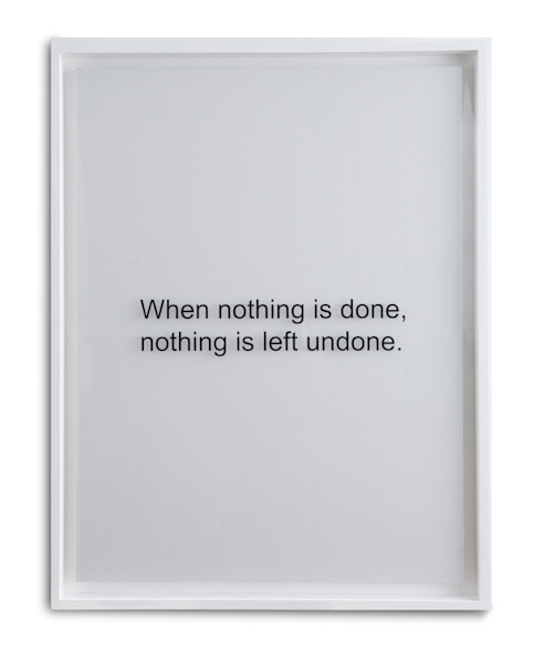 When Nothing is Done