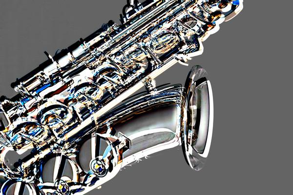 Sax Metal Art Print 4283.102