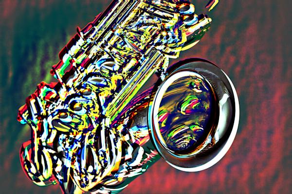 Saxophone Red Spot Light Metal Art 3358.102
