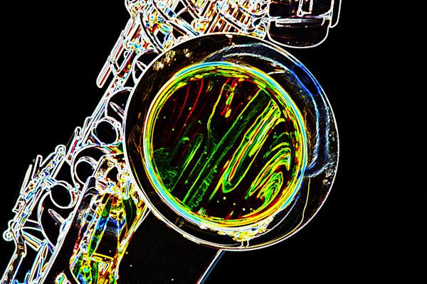 Metal Art Drawing Saxophone Bell 3267.02