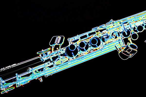 Music Drawing of Soprano Saxophone 3341.02