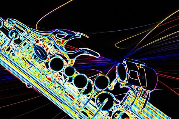 Modern Soprano Saxophone Image Drawing 3344.02