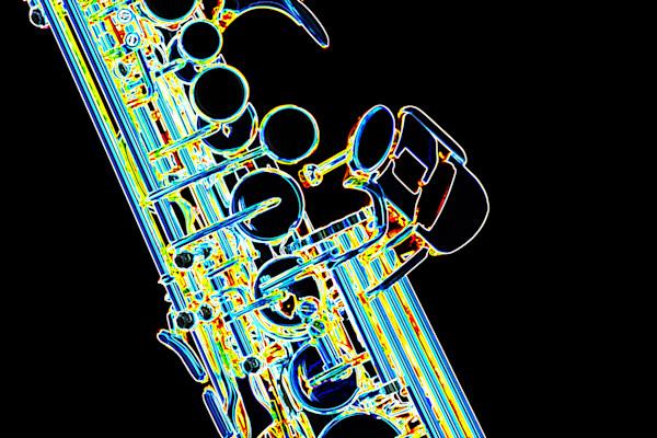Wall Art Soprano Sax Dark Drawing 3354.01