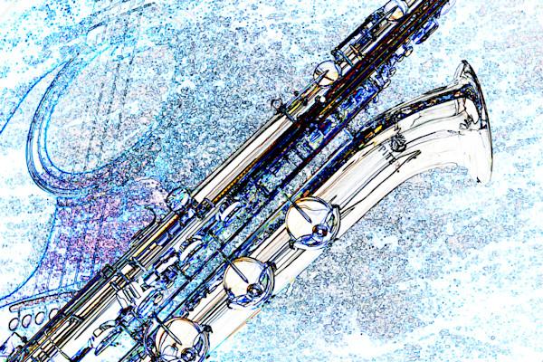 Baritone Sax Watercolor Print 3462.602