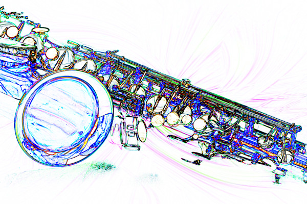 Sax Music Art Watercolor Print 3249.602