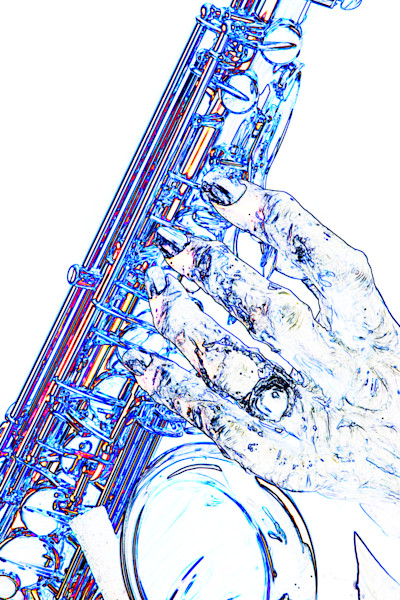 Saxophone Monster Hand Watercolor 1130.601