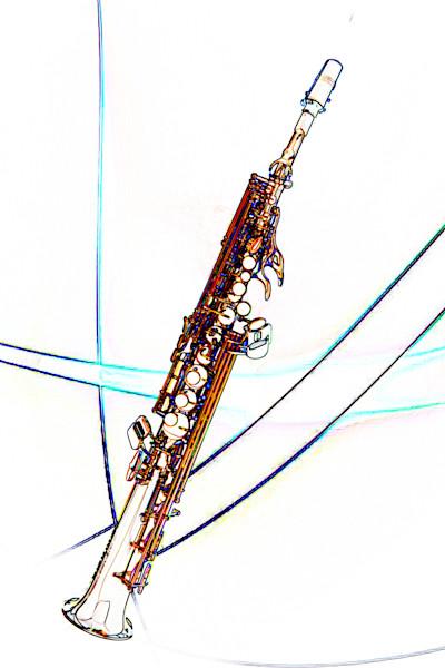 Soprano Sax Watercolor Music Art 3338.602