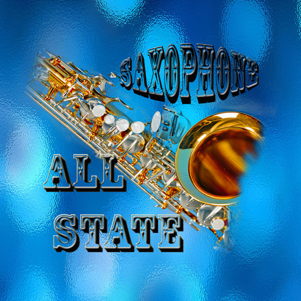 All State Band Sax Poster 103