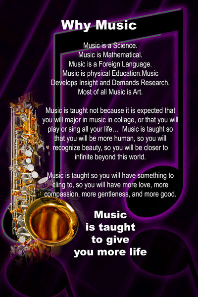 Dark Why Music Sax Poster 114
