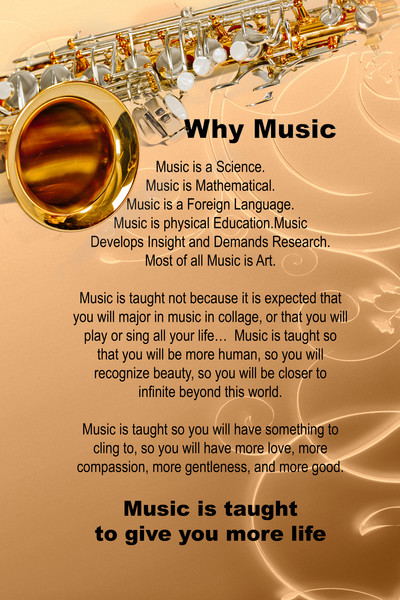Why Music Light Sax Poster 116