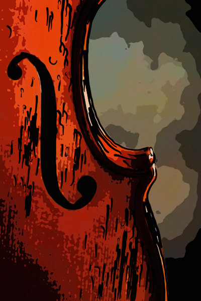 Antique Violin Sound Hole Art Painting 365