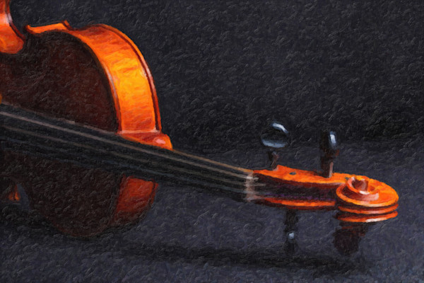 Violin Neck Painting Print 369