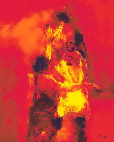 Kobe Bryant Painting | Sports artist Mark Trubisky | Custom Sports Art.