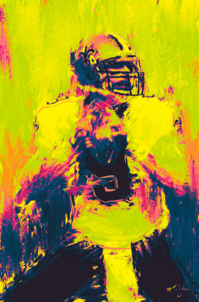 Drew Brees Football Painting | Sports artist Mark Trubisky | Custom Sports Art.