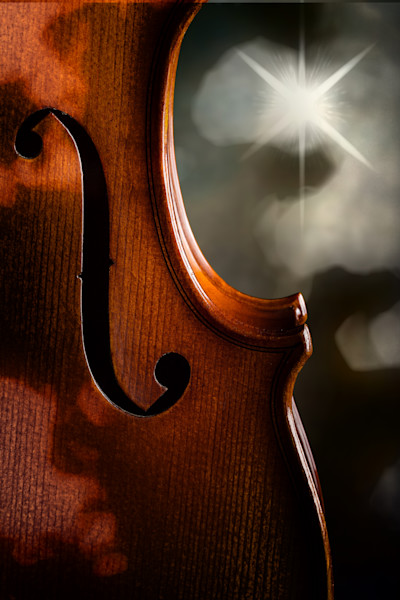 Night Sky Violin Wall Art in Color 1006