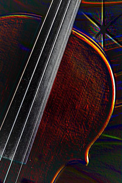 Antique Violin Star Music Art 4012