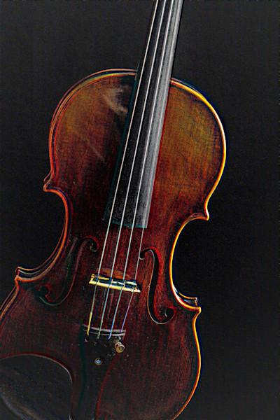 Antique Violin Embossed 4009