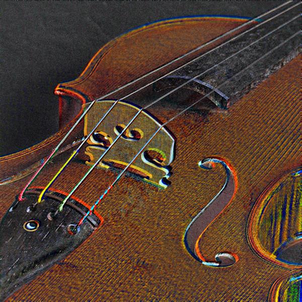 Antique Violin Bridge Wall Art Embossed 4016