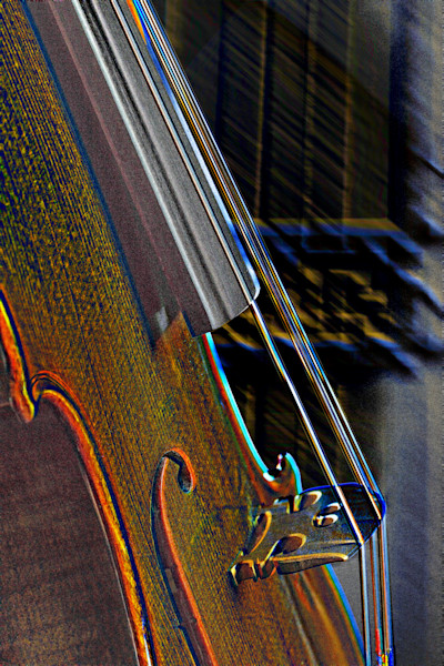Antifque Violin Image Metal Art 4013