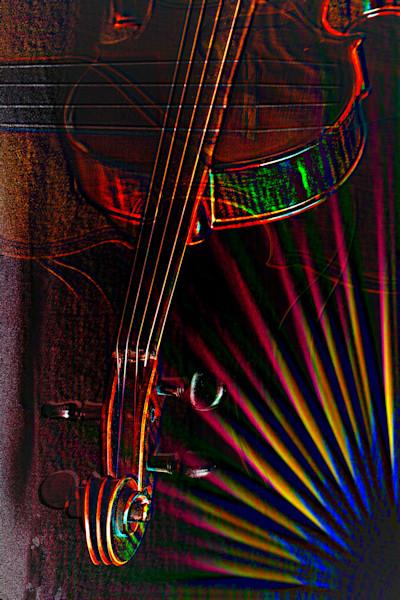 Violin Neck Music Art Embossed 4027