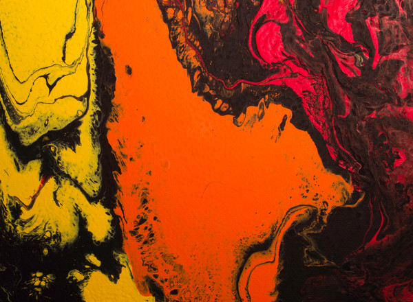 Dirty Acrylic Paint Pour 5, Fluid Artwork, Abstract Photography Reproduction Print