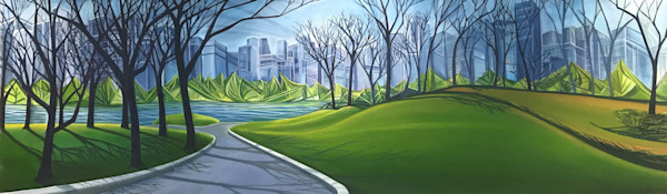 New York Central Park by Kristyn Watterworth | SavvyArt Market original painting