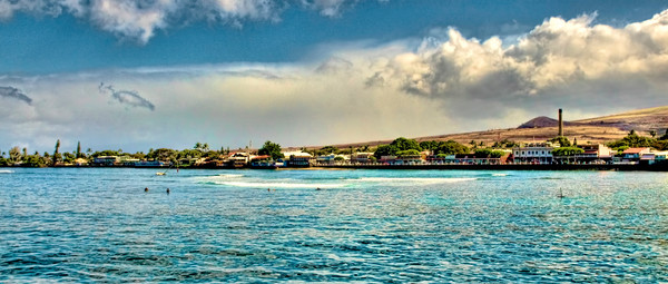 Lahaina Hawaii from the Coastline, Maui