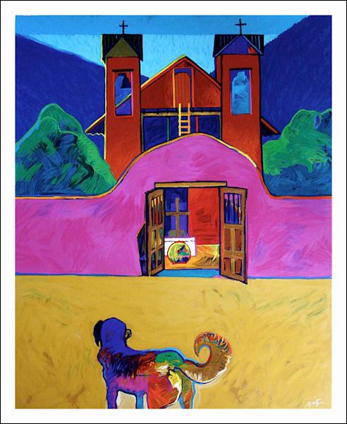 Sanctuario de Chimayo | John Nieto Art Limited Edition Serigraph