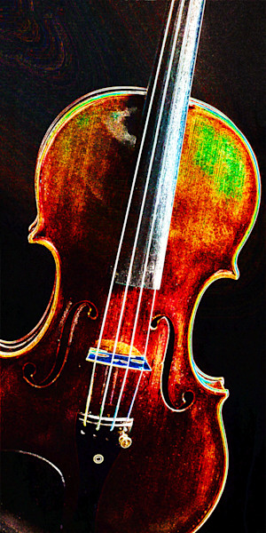 Music Art Violin Dark Drawing 5010