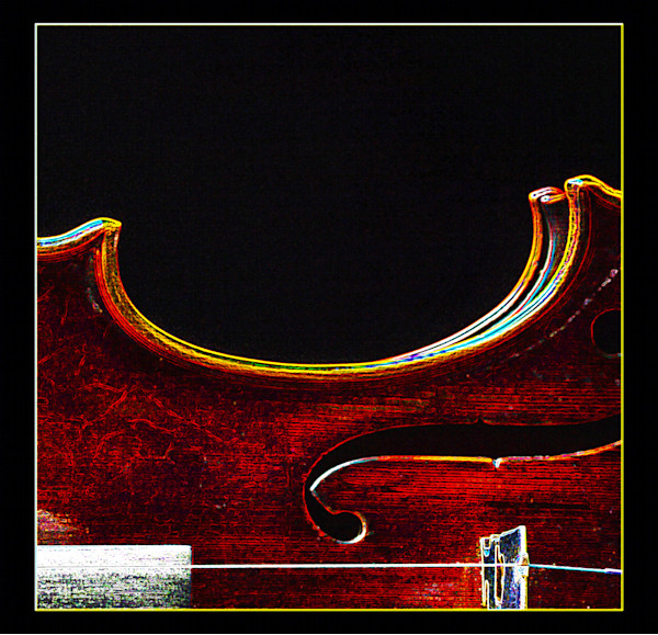 Wall Art Violin Dark Drawing 5005