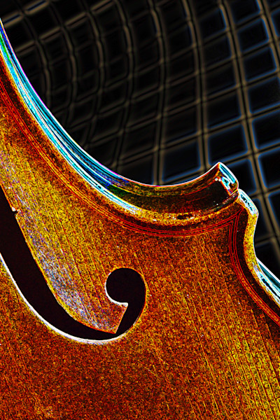 Violin Wall Art Dark Drawing 5021