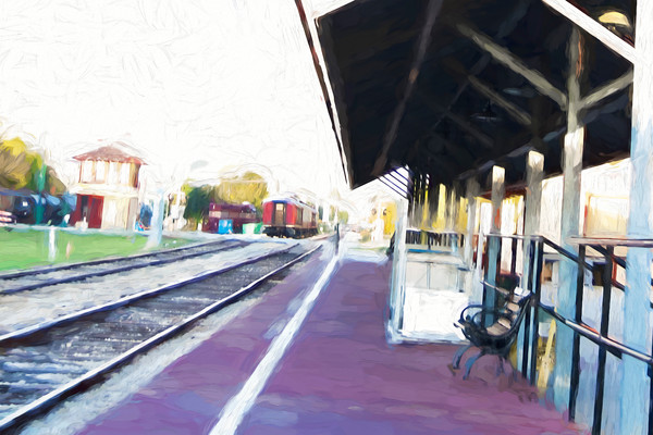 At the Platform, Grapevine Train Station with Purple