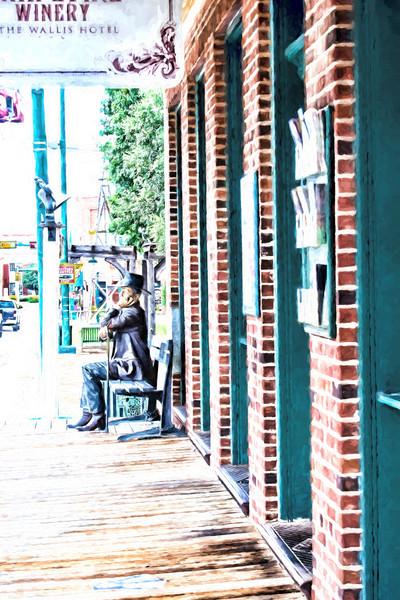 Main Street Grapevine Statue Man