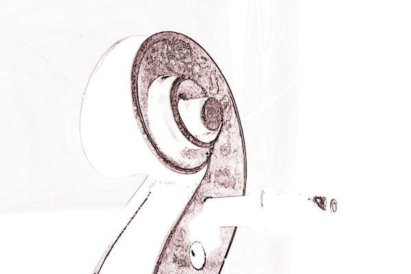 Original Art Violin Watercolor 6034