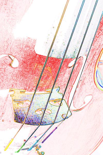 Antique Violin Watercolor 6018