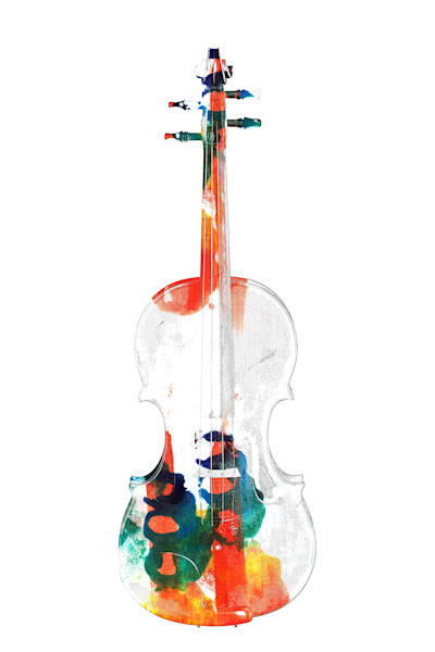 Fantastic Violin Watercolor Fine Art Pictures IP63