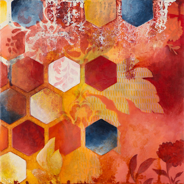 Hive, an original art abstract painting by Heather Robinson