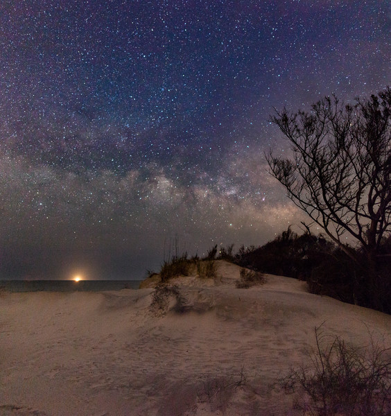 Sand Dunes and Milky Way
